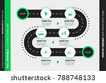 layered infographic timeline.... | Shutterstock .eps vector #788748133