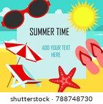 summer time in beach sea shore...   Shutterstock .eps vector #788748730