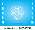 this image represents a cloud... | Shutterstock .eps vector #788748748