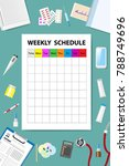 weekly schedule with medical... | Shutterstock .eps vector #788749696