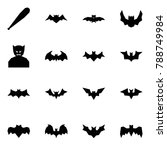 origami style icon set   bat... | Shutterstock .eps vector #788749984
