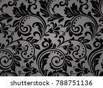 floral pattern. wallpaper... | Shutterstock .eps vector #788751136