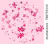 pink blots on a pink background.... | Shutterstock .eps vector #788755114