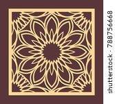 laser cutting panel. golden... | Shutterstock .eps vector #788756668