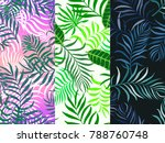 set of three seamless floral... | Shutterstock .eps vector #788760748