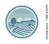 farm logo. nature. black and... | Shutterstock .eps vector #788763094