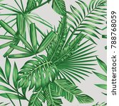 exotic tropical green vector... | Shutterstock .eps vector #788768059