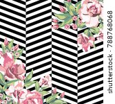 rose flowers print pattern in... | Shutterstock .eps vector #788768068