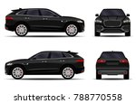big black car. front view  side ... | Shutterstock .eps vector #788770558