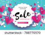 happy valentine's day. sale... | Shutterstock .eps vector #788770570