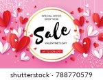 happy valentine's day. sale... | Shutterstock .eps vector #788770579