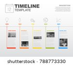 simple vector infographic... | Shutterstock .eps vector #788773330