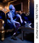 fashion photo. a girl in a... | Shutterstock . vector #788773744