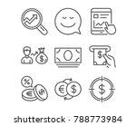 set of smile  cash money and... | Shutterstock .eps vector #788773984