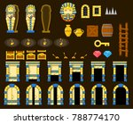 collection of pyramid objects... | Shutterstock .eps vector #788774170