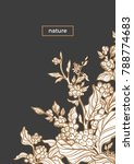 vector template with engrave of ... | Shutterstock .eps vector #788774683