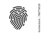 fingerprint icon vector   Shutterstock .eps vector #788776018
