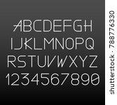 simple linear font on dark... | Shutterstock .eps vector #788776330