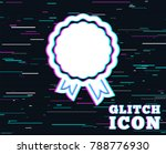 glitch effect. award icon. best ... | Shutterstock .eps vector #788776930