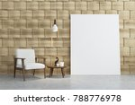 Empty Beige Room Interior With...