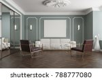 gray waiting room interior with ... | Shutterstock . vector #788777080