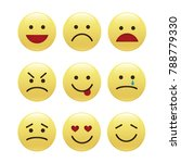 set of smile icons. emoji.... | Shutterstock .eps vector #788779330