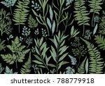 botanical hand drawn... | Shutterstock .eps vector #788779918