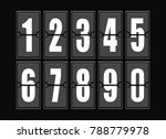 numbers set in modern style.... | Shutterstock .eps vector #788779978
