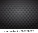 black steel metal perforated... | Shutterstock .eps vector #788780023