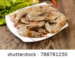 raw king prawn heap in the bowl ... | Shutterstock . vector #788781250