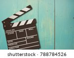 vintage photo of movie clapper... | Shutterstock . vector #788784526