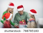 happy family together with... | Shutterstock . vector #788785183