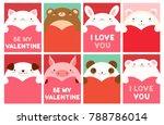 be my valentine. valentine's... | Shutterstock .eps vector #788786014