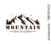black and white mountain... | Shutterstock .eps vector #788787610