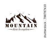 black and white mountain... | Shutterstock .eps vector #788787610