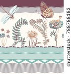 foral seamless border  colorful ... | Shutterstock . vector #788788183