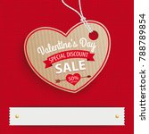 price sticker for a valentines... | Shutterstock .eps vector #788789854
