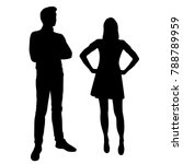 vector silhouettes of man and... | Shutterstock .eps vector #788789959