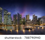 central business district in... | Shutterstock . vector #788790940