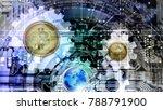 payment bitcoin internet... | Shutterstock . vector #788791900