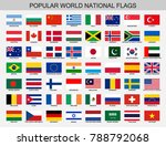 world national flags set | Shutterstock .eps vector #788792068