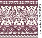 monochrome floral seamless... | Shutterstock . vector #788793499
