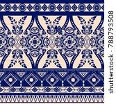 monochrome floral seamless... | Shutterstock . vector #788793508