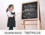 a happy little girl dressed as... | Shutterstock . vector #788796118
