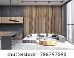 hexagon pattern living room... | Shutterstock . vector #788797393