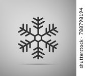 snowflake icon isolated on grey ... | Shutterstock . vector #788798194