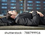 business man is tired and takes ...   Shutterstock . vector #788799916
