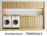white laundry room interior... | Shutterstock . vector #788800663