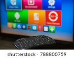 smart tv control device in the... | Shutterstock . vector #788800759