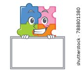 grinning board puzzle character ... | Shutterstock .eps vector #788801380